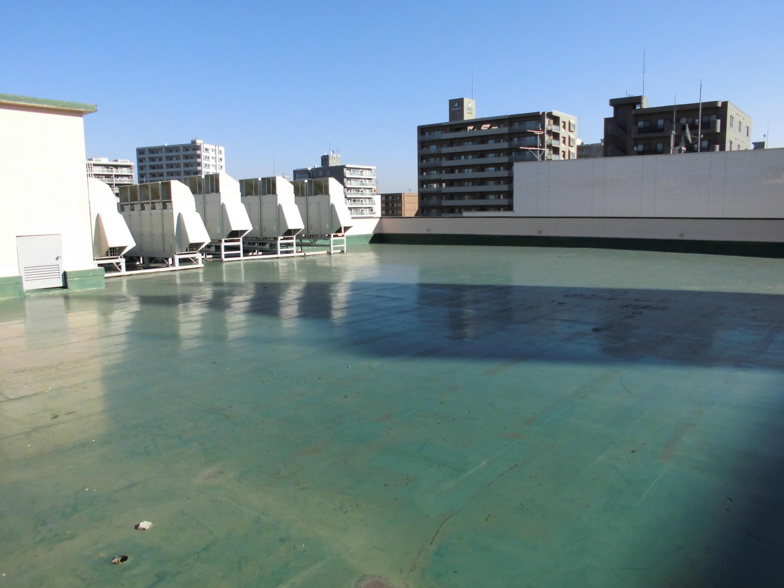 札幌市中央区商業ビル屋上防水工事