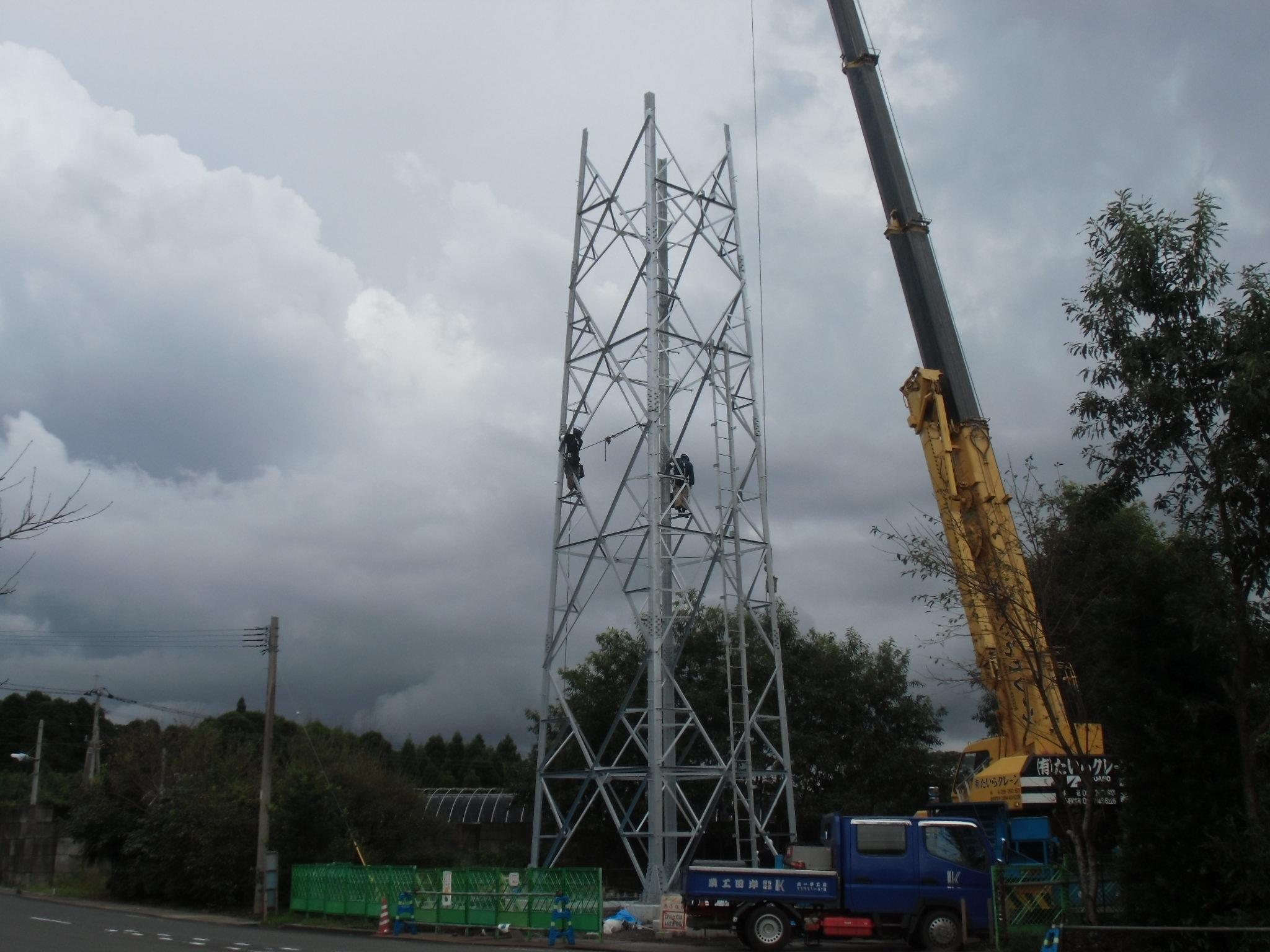 鹿児島県鹿屋市携帯電話基地局建設工事