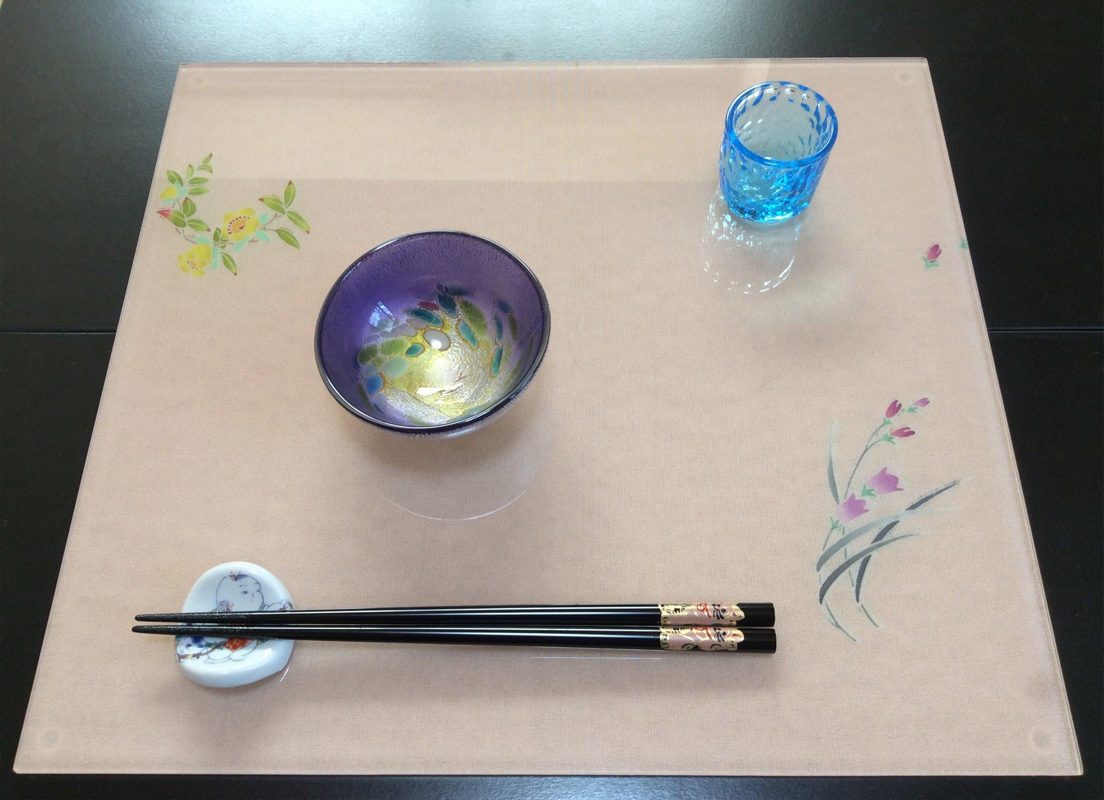 ガラスランチョンマット(プレート食器)