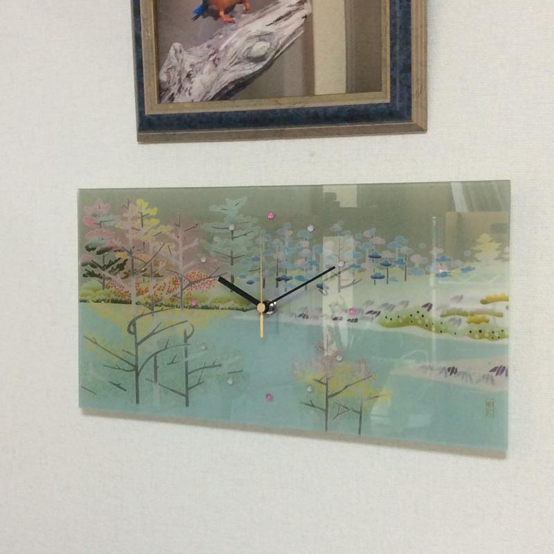 友禅ガラス時計