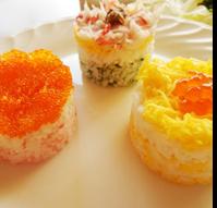 寿司ケーキ3点盛り