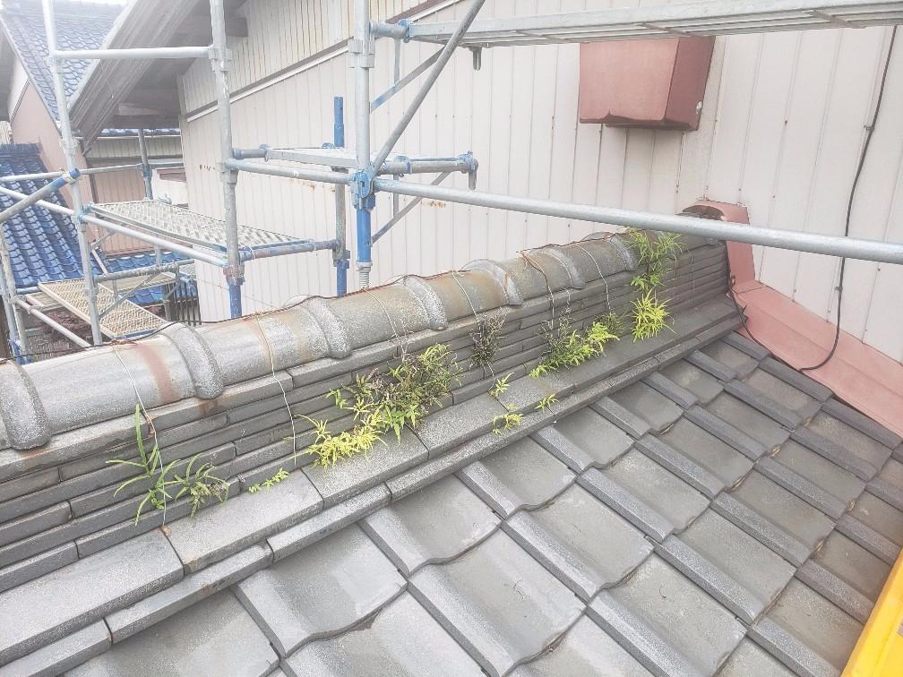 桑名市I様邸、雨漏り棟修繕工事。