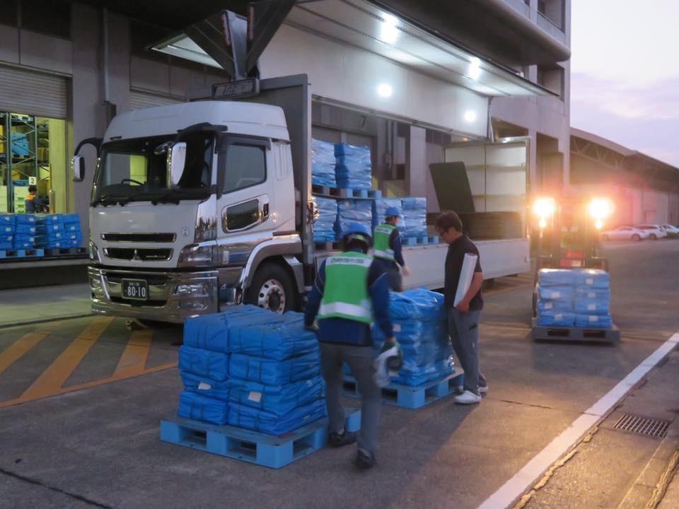千葉県へ向けた緊急支援物資輸送