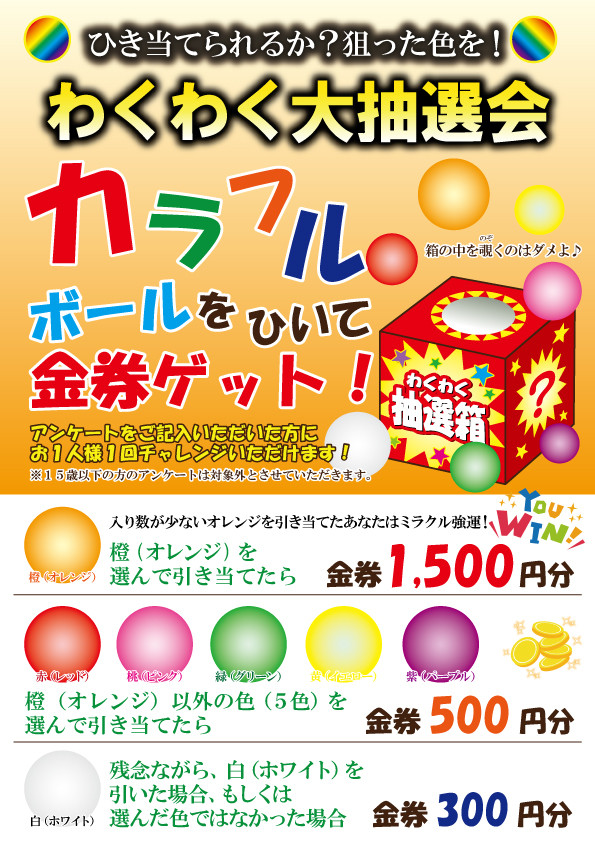 【グルメパークニュース】わくわく大抽選会!開催