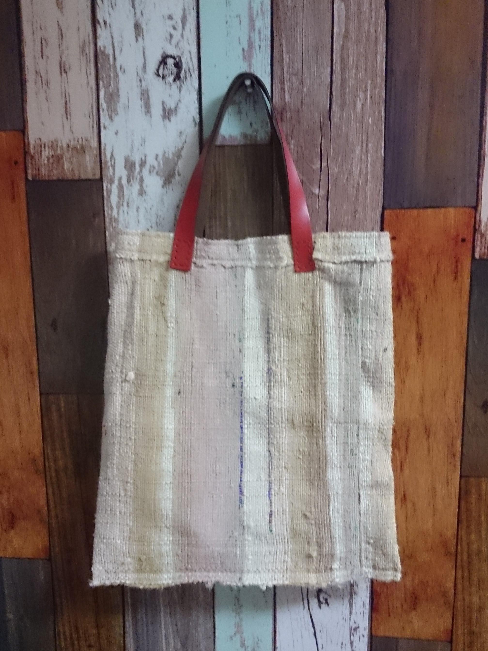 シルク裂き織りバッグ