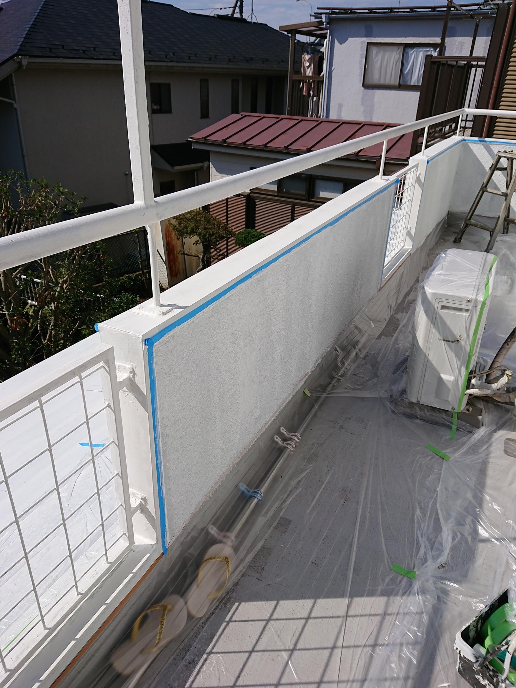 国立市T様邸ベランダ壁・屋根部分補修