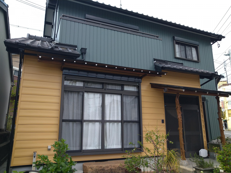 岡崎市N様邸/外壁ガルバリウム鋼板塗装