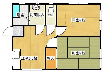 【アパート】鹿島市高津原 コーポひまわり 日当たり良好!閑静な住宅地です。