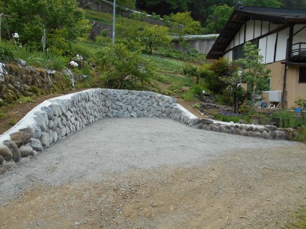 土木工事 石垣積み施工後