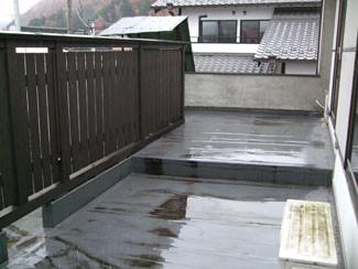 屋上庭園施工前