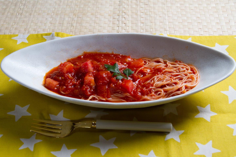 そうめんDEイタリアン・トマトソース味