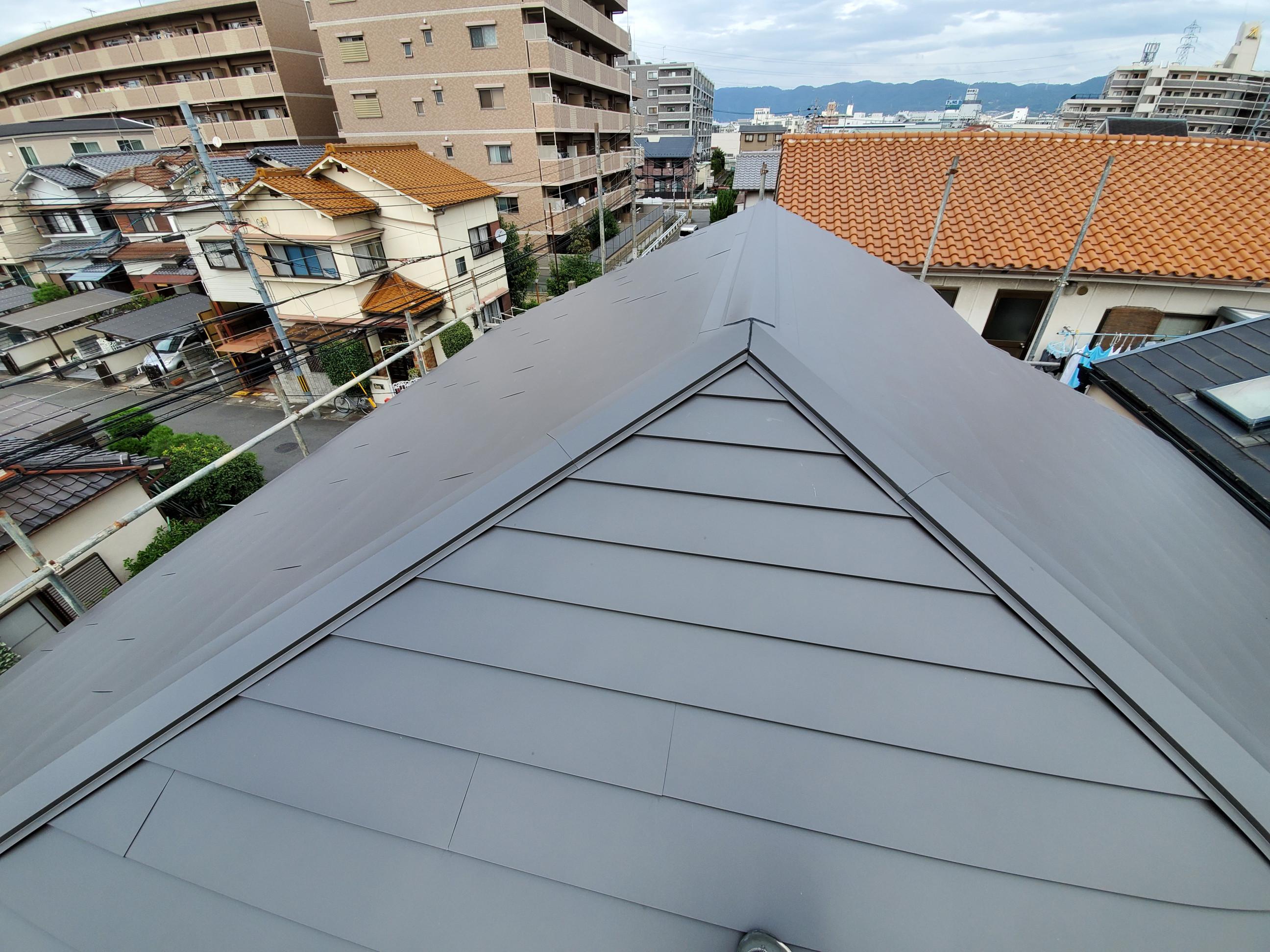 屋根葺き替えアフター画像