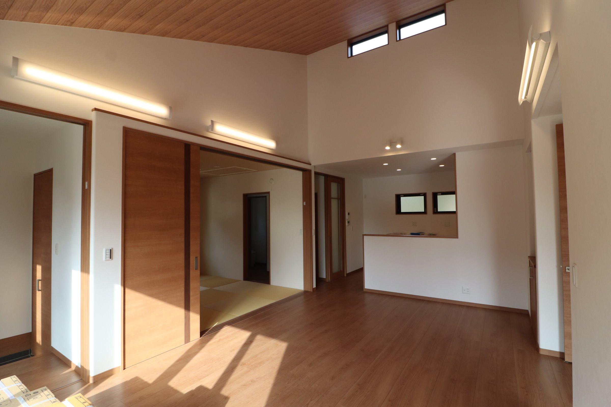 平屋住宅完成しました。