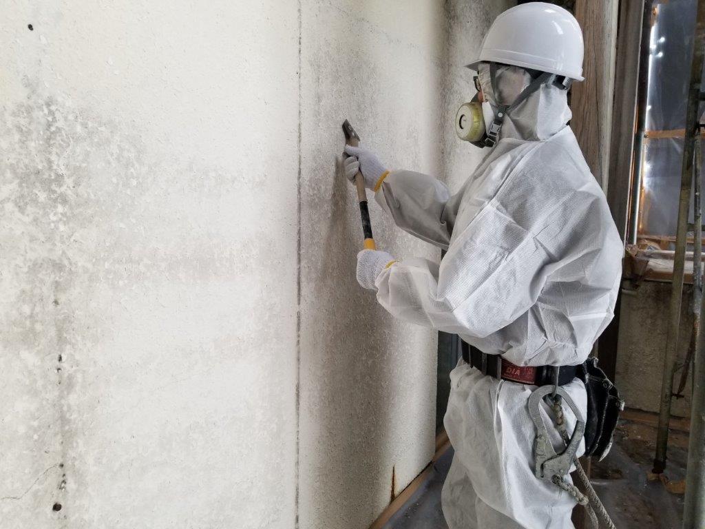 オフィスビル 外壁塗膜除去工事画像