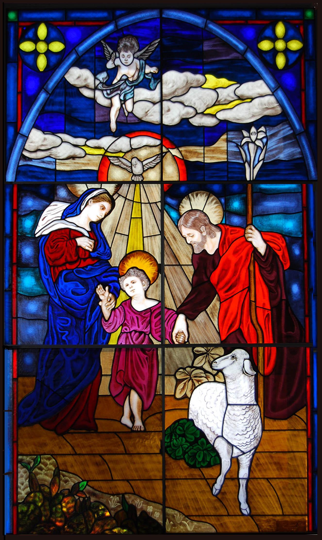 飽の浦教会 聖家族画像1