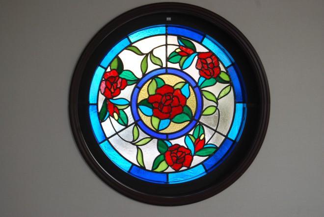 円形のバラ画像