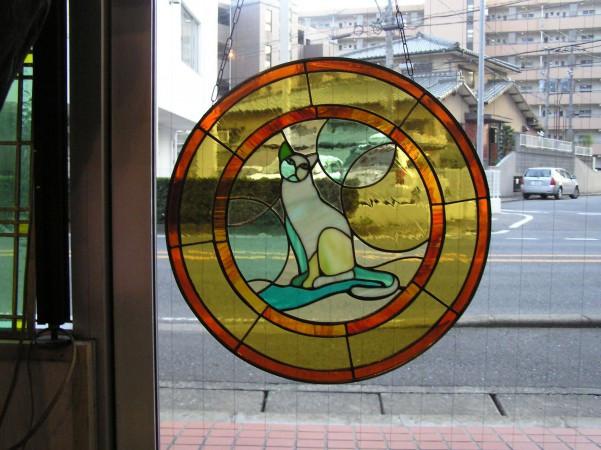 アンティーク材・猫画像