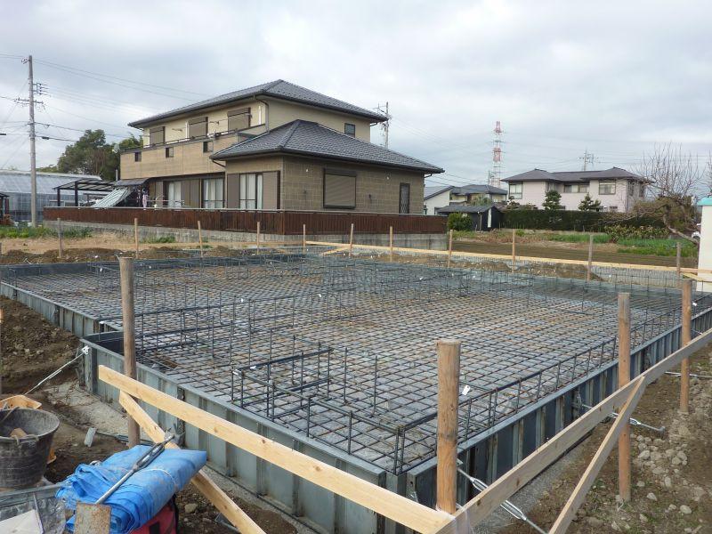 Y様邸新築工事(基礎配筋)