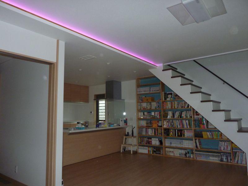 新築工事LED照明施工例