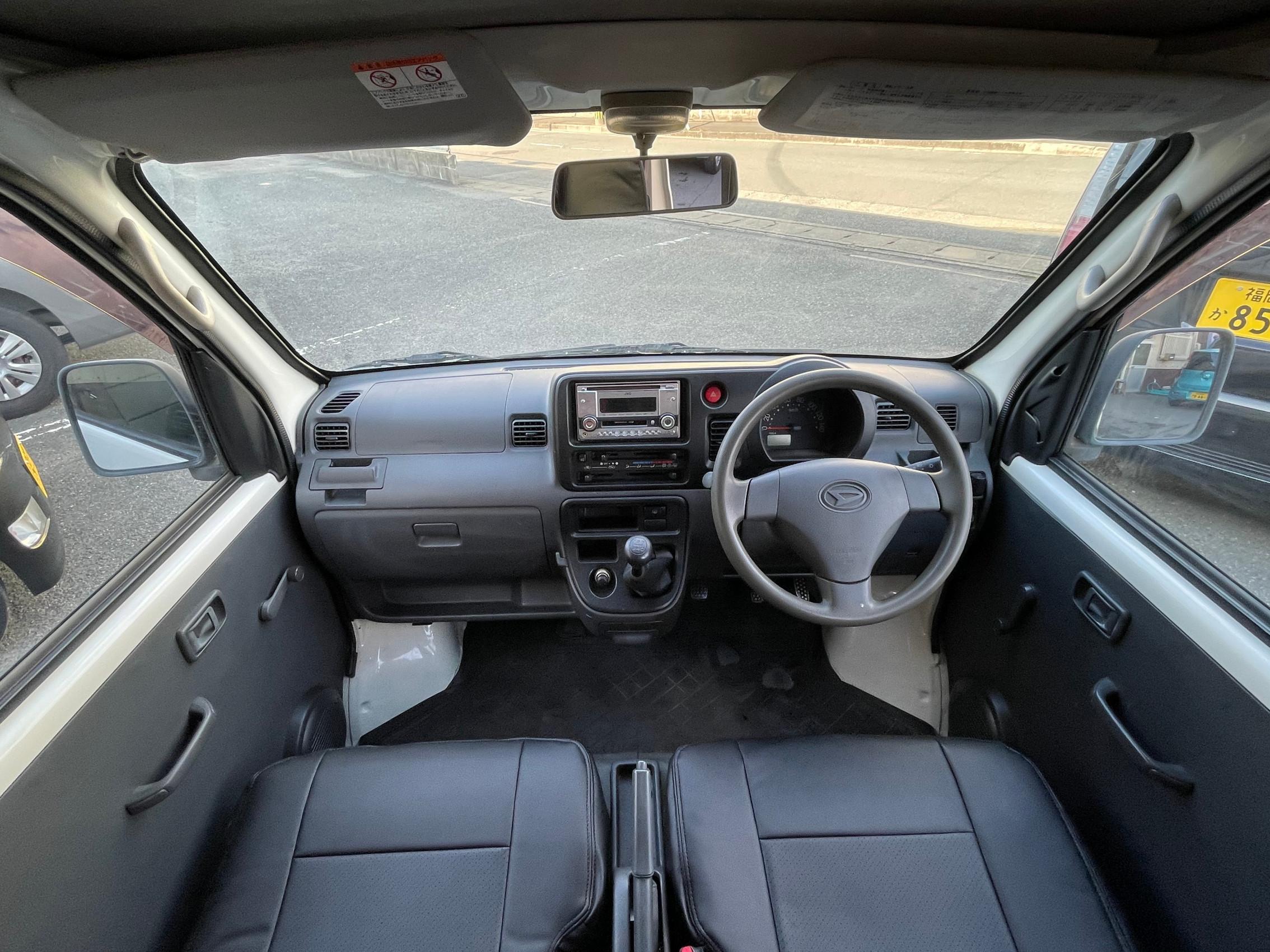 ハイゼット スペシャル CDMD ハイルーフ 5MT タイミングチェーン 両側スライドドア 黒革調シートカバー