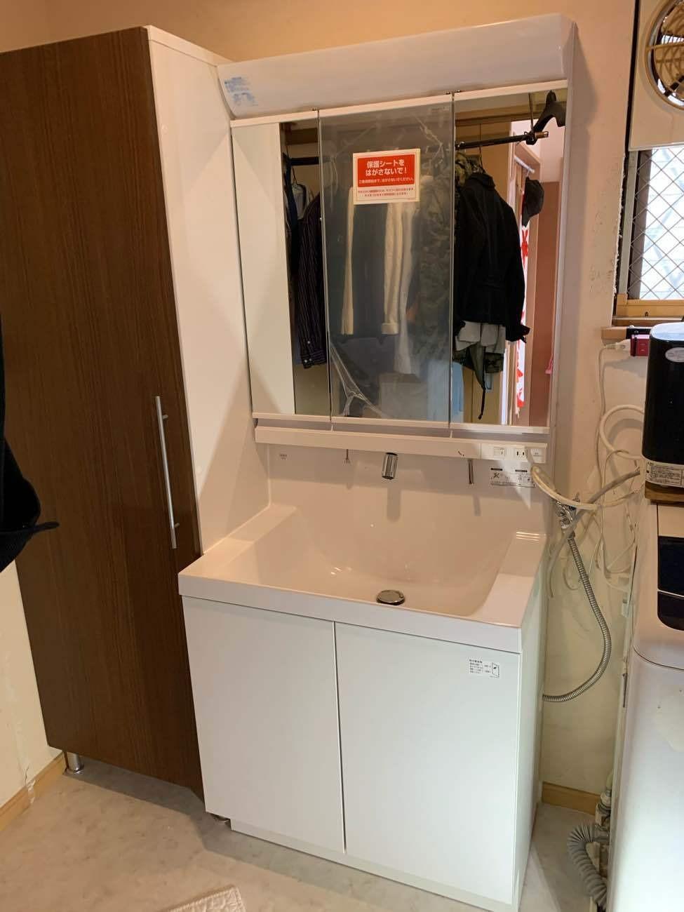 枚方市 K様邸 洗面化粧台・トイレ入れ替え工事画像1