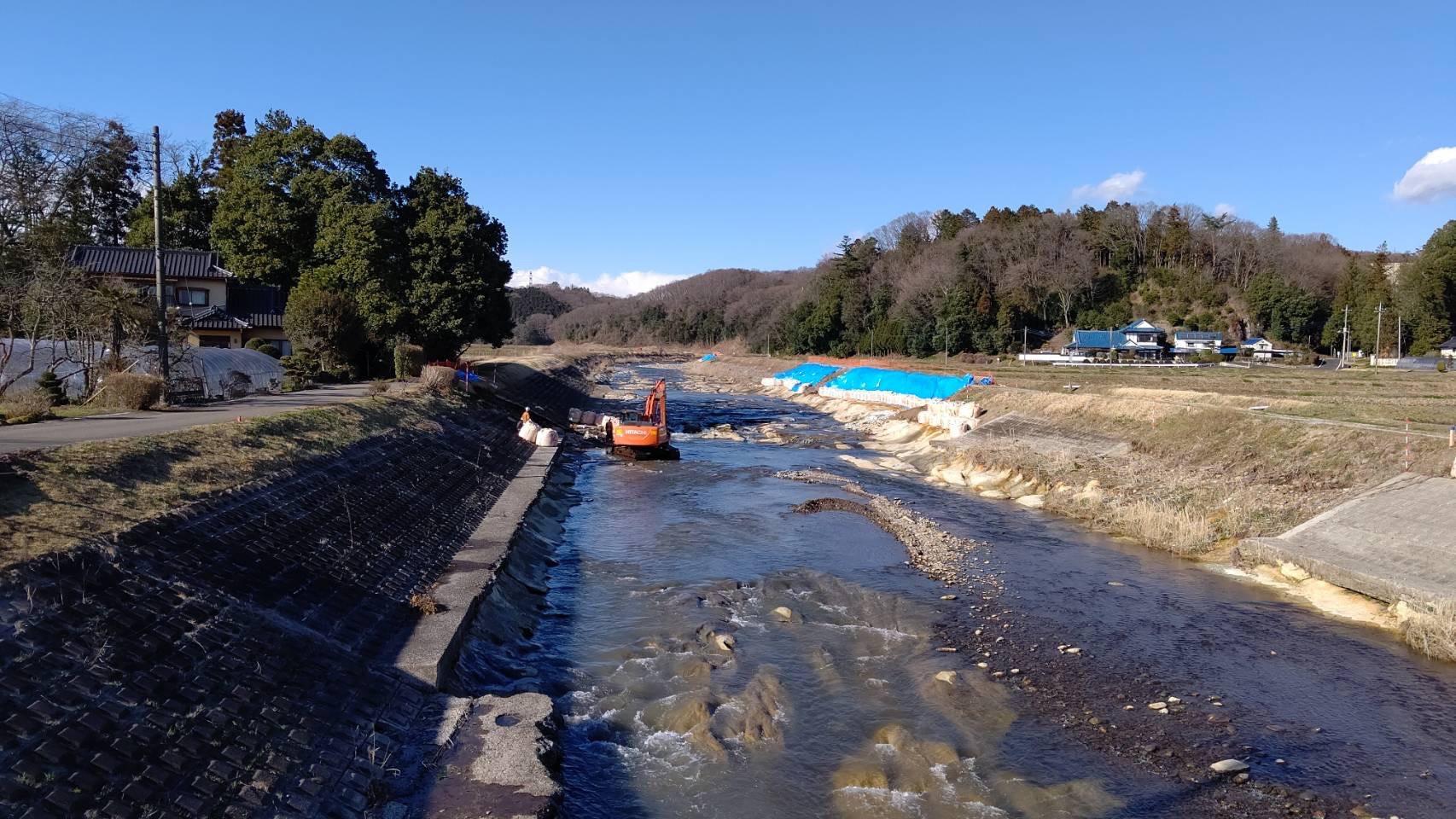 田川河川工事画像1