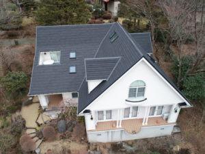 箱根町 屋根葺き替え工事(カバー工法)実施画像9