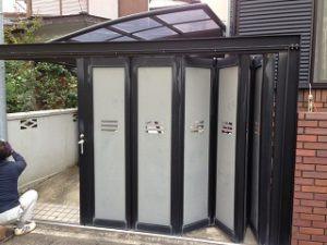 平塚市で駐車場入り口をハンガーゲートに交換工事画像3
