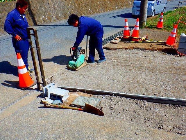 厚木市で外構工事(駐車場土間打ち)を実施画像1