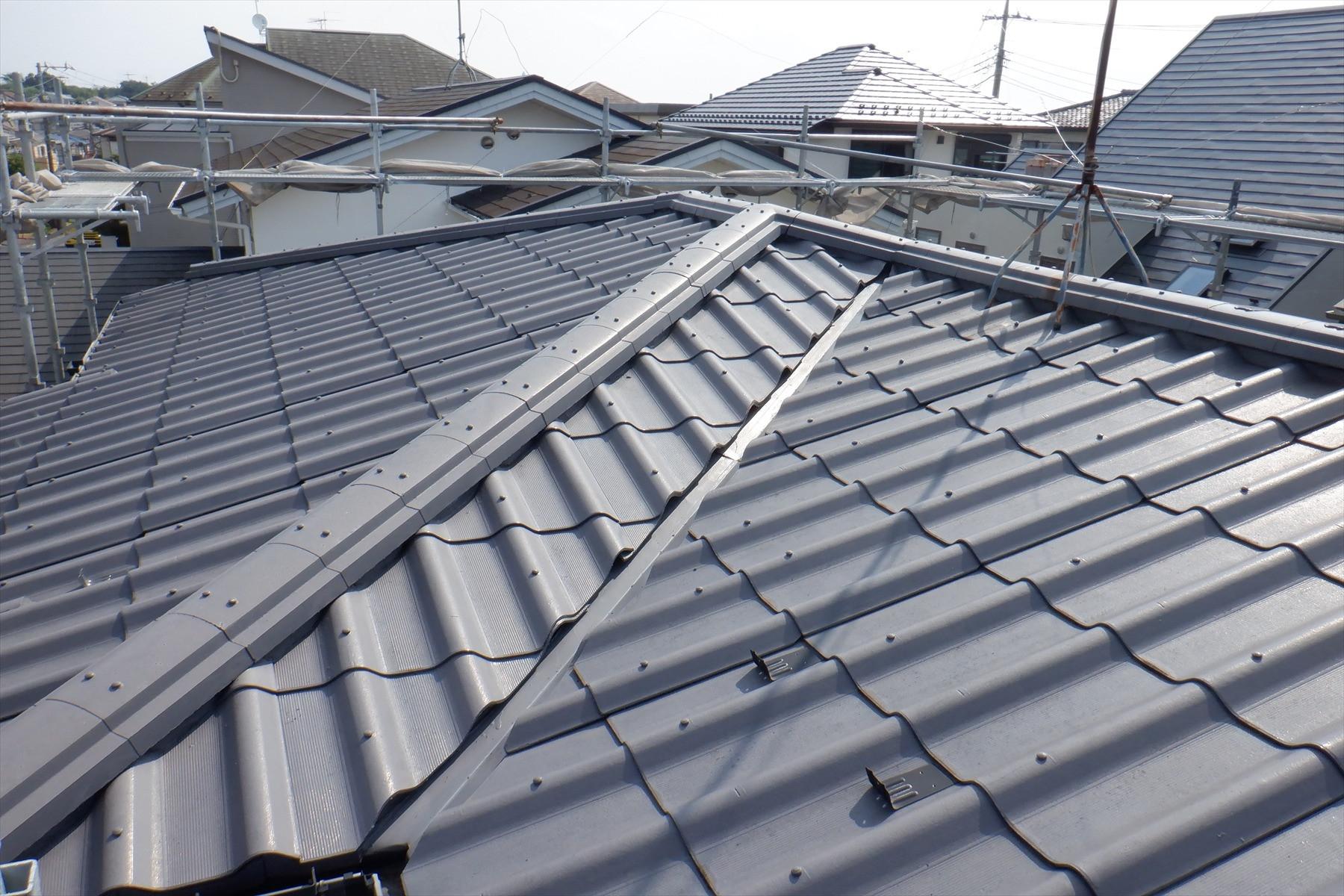 横浜市 雨漏りによる屋根葺き替え工事画像1