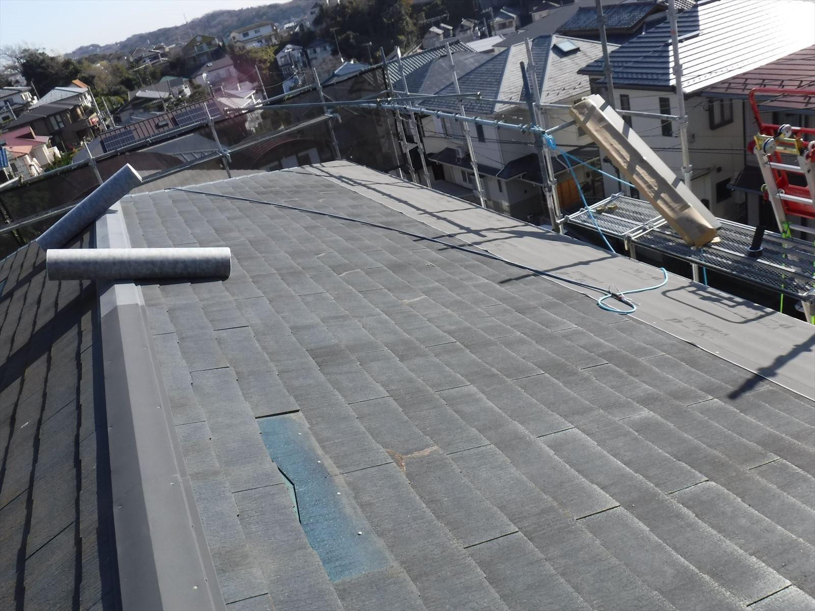 鎌倉市 台風被害による屋根工事画像2