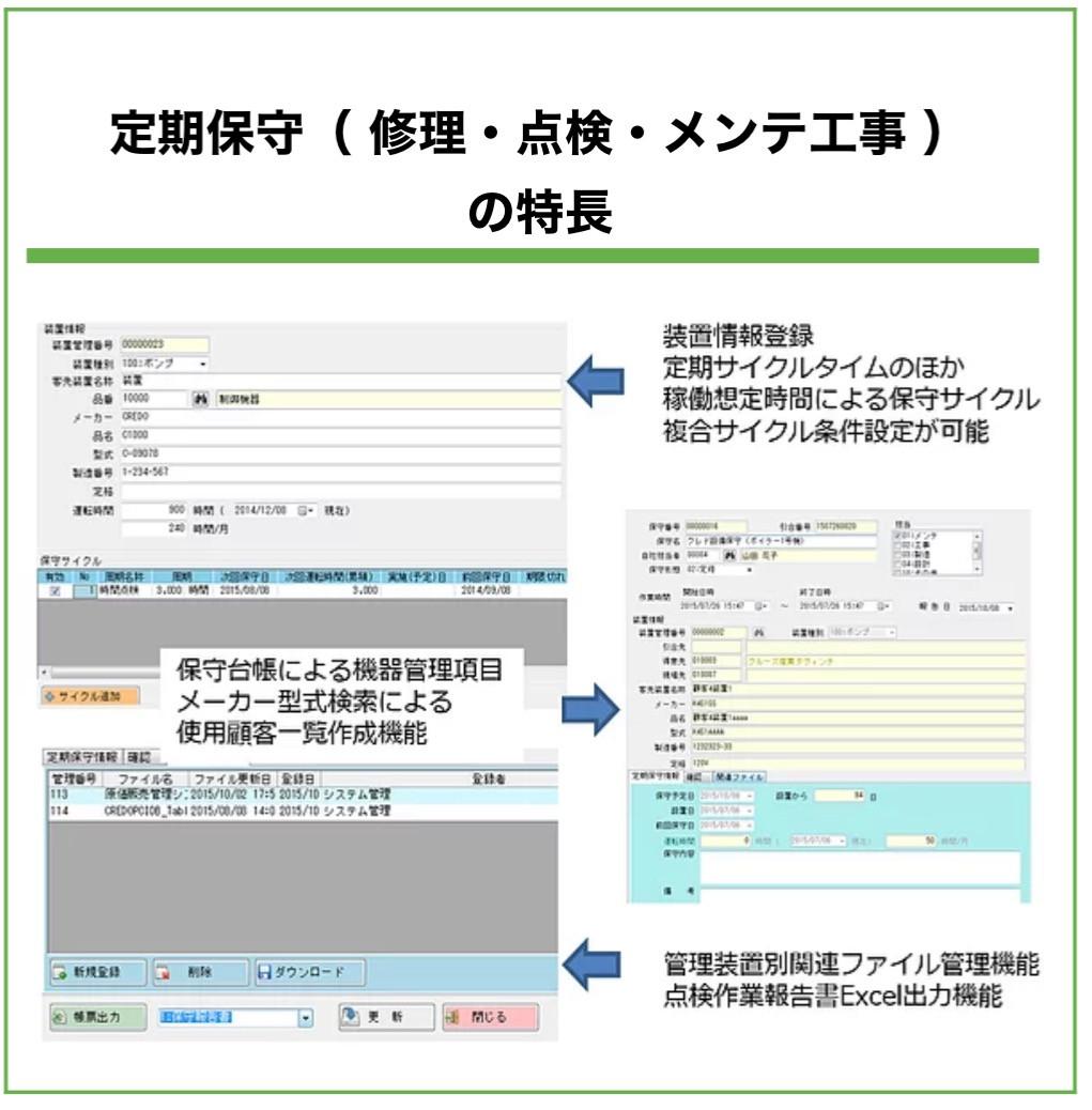 顧客・販売・工程・原価・保守管理システム開発