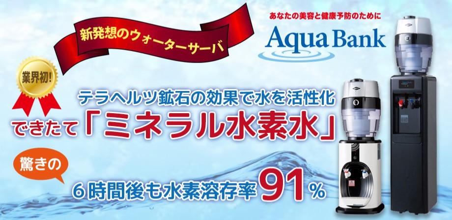 ミネラル水素水使い放題!月額3980円(税別)