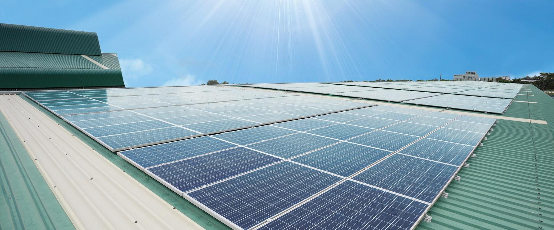 太陽発電システムの導入