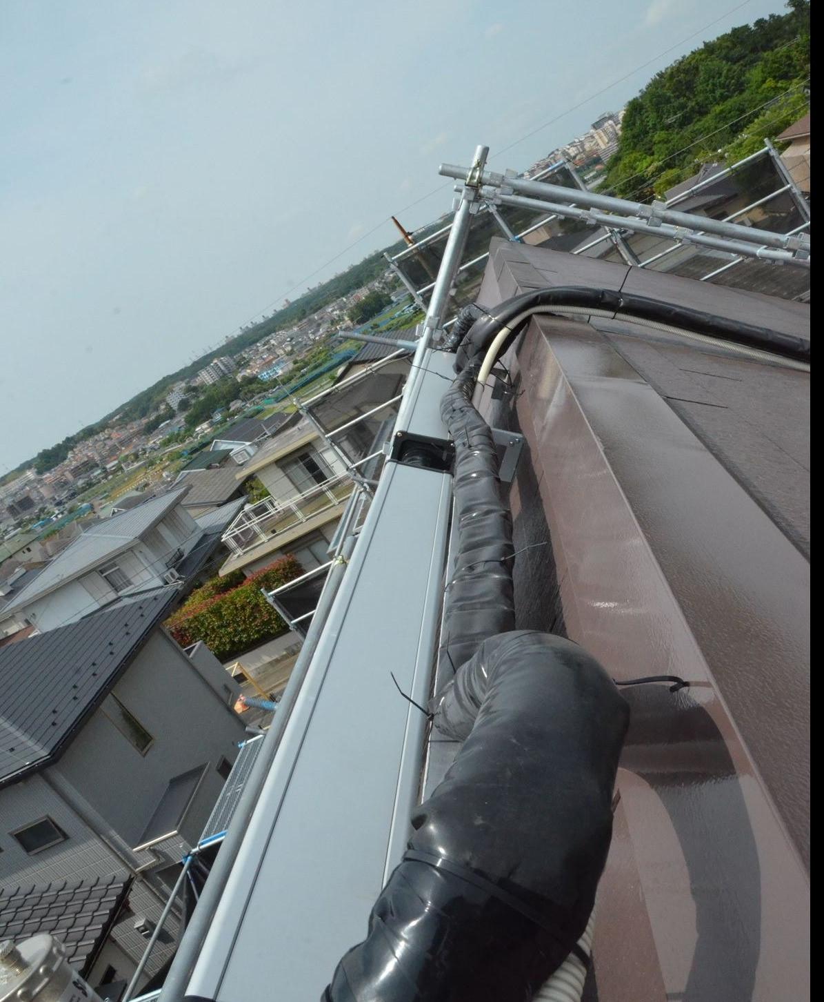 横浜市A様邸 太陽熱温水器設置 分離型強制循環熱交換式プレミアム