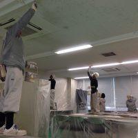 某銀行 天井塗装工事①画像