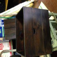 木箱 クリアー塗布 完成画像