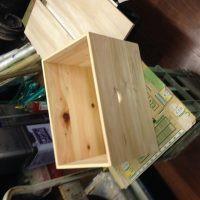 木箱のオイルステイン 施工前画像