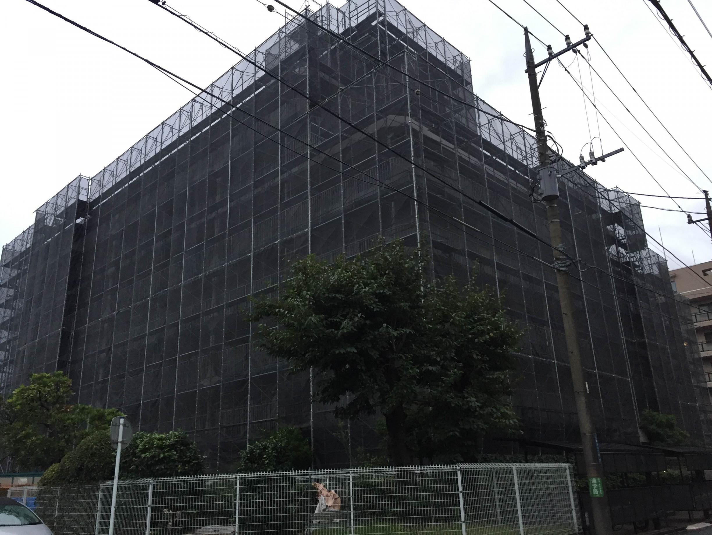 神奈川県川崎市足場工事 -before