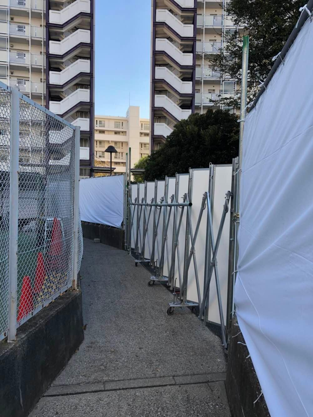 某集合住宅仮囲い:船橋市 -after