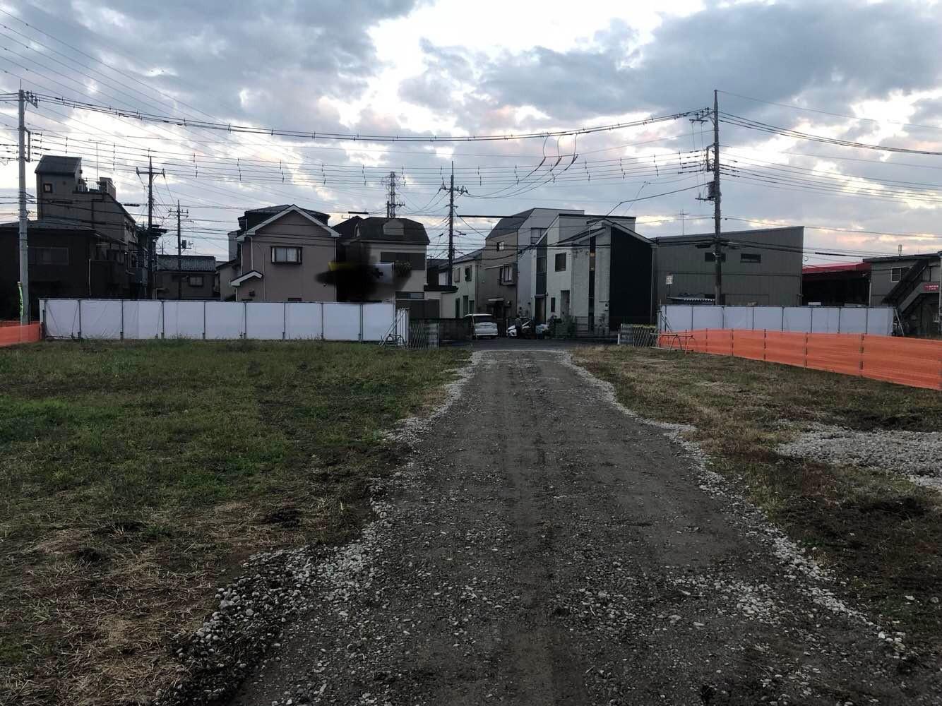 某新築工事仮囲い:川口市 -before