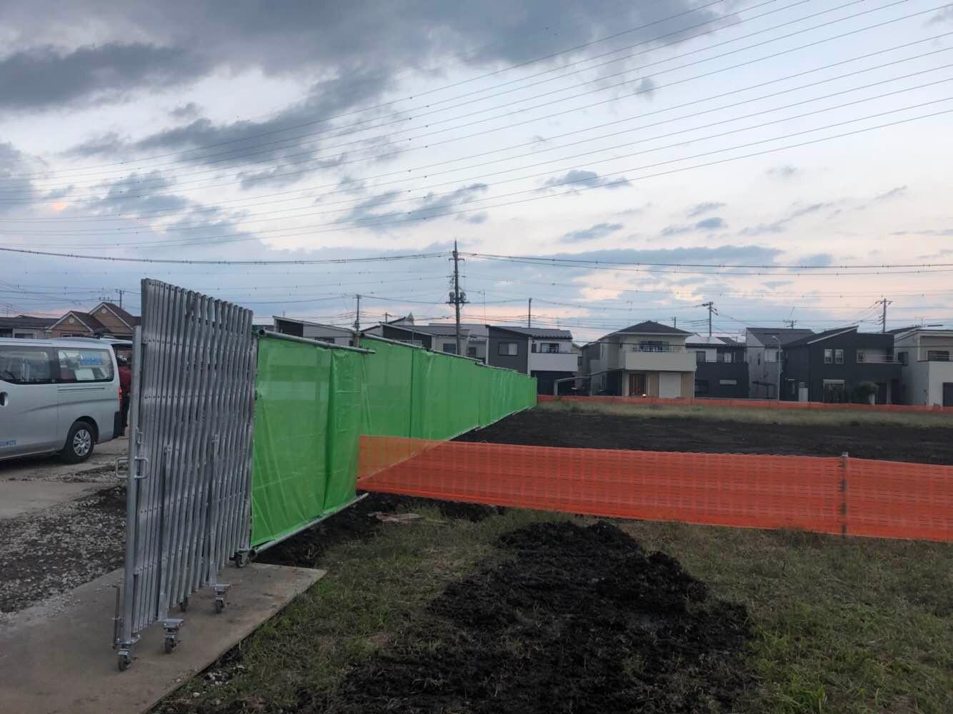 某新築工事仮囲い:川口市 -after