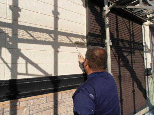 外壁:上塗 水性シリコンセラ