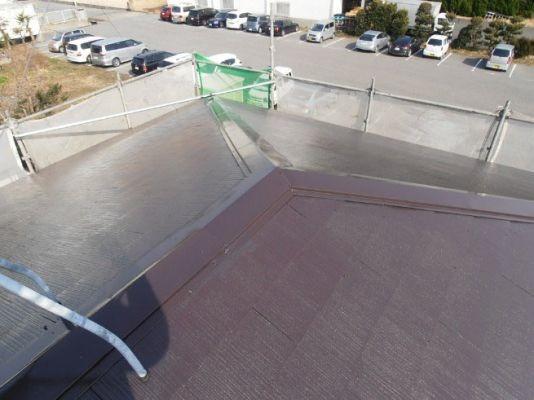 屋根:ファインシリコンベスト 完成(2回塗り後)