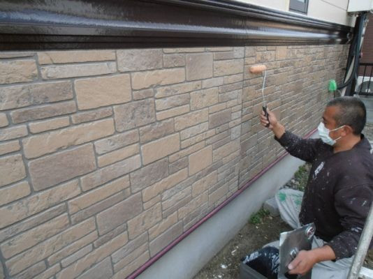 外壁腰下(意匠サイディング):UVプロテクトクリヤー