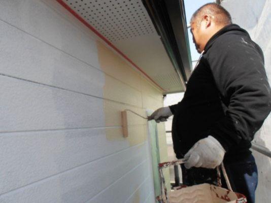 外壁:中塗 水性シリコンセラ