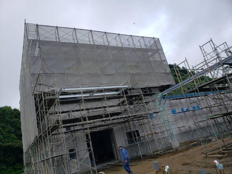 外壁改修工事の様子です R1.07.24