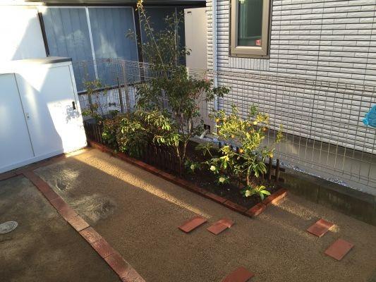 水を通す真砂土舗装なら庭木の根元まで舗装しても大丈夫です。