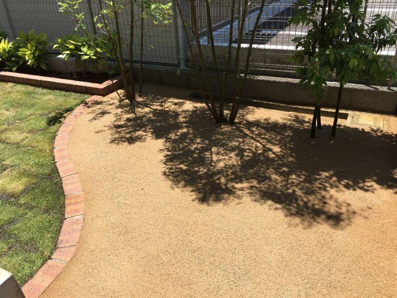 雑草対策 真砂土舗装