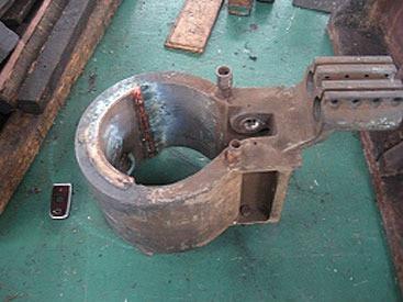 機械部品修理|電気炉部品内径部割れ溶接仕上加工